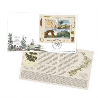 Captain Cook First Day Cover Miniature Sheet with Tallents House Postmark