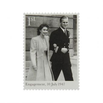 N3113 Royal Mail The Royal Wedding Platinum Anniversary Framed Stamps 1