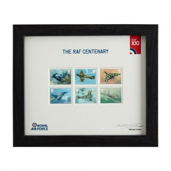 N3117 Royal Mail Raf Centenary Framed Set Of Stamps Signed By Michael Turner 1