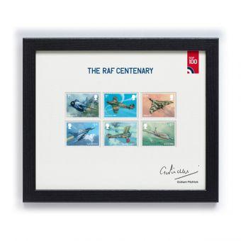 RAF Centenary Framed Set of Stamps Signed by Graham Pitchfork