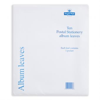 Royal Mail Postal Stationery Album Inserts Pack of 10