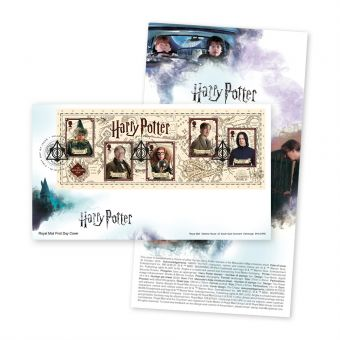 Harry Potter™ Miniature Sheet First Day Cover with Tallents House Postmark