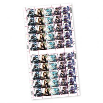 Harry Potter™ Full sheet of 50 x 1st Class Stamps Hagrid