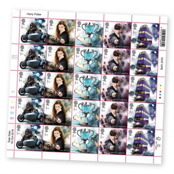 Harry Potter™ Half sheet of 25 x 1st Class Stamps Hagrid