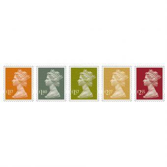 Definitives 2017 - Machin Definitives Stamp Set