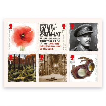The First World War 1918 Mint Stamps