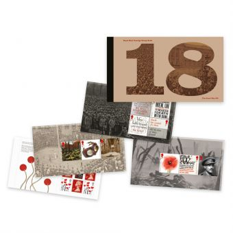 The First World War 1918 Prestige Stamp Book