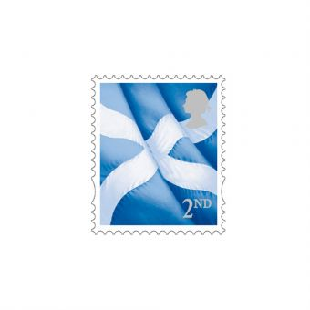 Sheet of 50 x 2nd Class Scottish Stamps