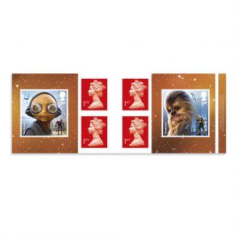 Royal Mail Star Wars Retail Stamp Book Aliens