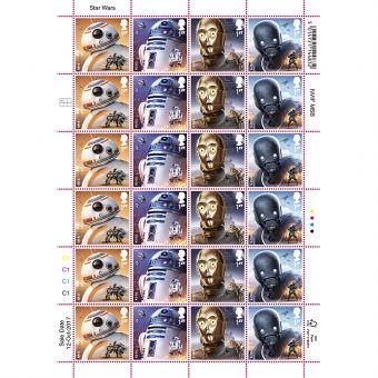 STAR WARS Droids  Half Stamp Sheet
