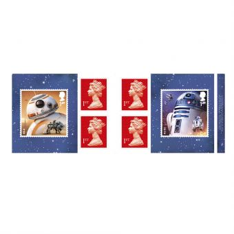 Royal Mail Star Wars Retail Stamp Book Droids