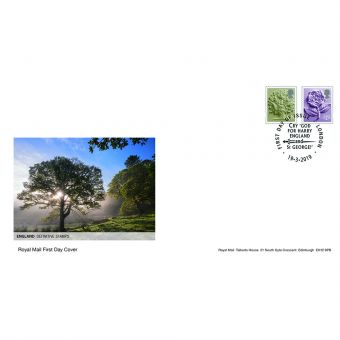 Definitives 2019 England Country Definitives First Day Cover London