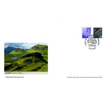 Definitives 2019 Scotland Country Definitives First Day Cover Edinburgh