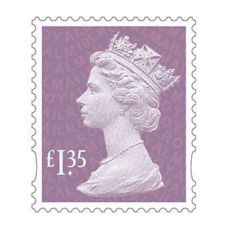 Definitives 2019 Machin Mint Stamp Orchid Mauve £1.35