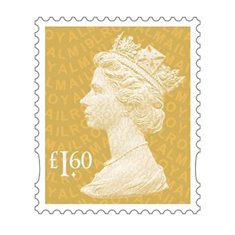 Definitives 2019 Machin Mint Stamp Amber Yellow £1.60