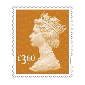 Definitives 2019 Machin Mint Stamp Bright Orange £3.60