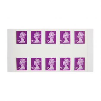 Royal Mail 10 X 3.00 Self Adhesive Stamp Sheet