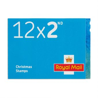 Royal Mail Christmas 2017 12x 2nd Class Stamp Book