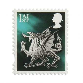 Ws027 Wales Country Definitive First Class Stamp