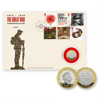 The First World War 1918 brilliant Uncirculated Coin Cover