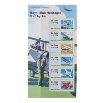 Royal Mail Heritage Mail By Air Post and Go Stamp Set