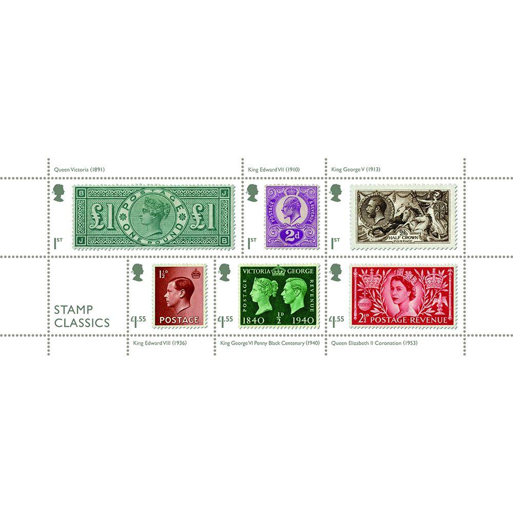 英国1月15日发行经典邮票小全张