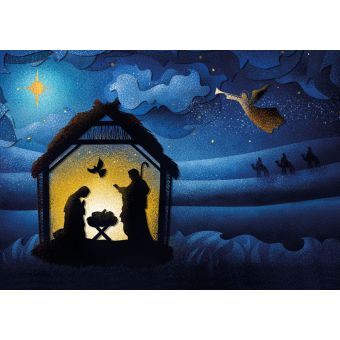 Silhouette Pack of 10 Charity Christmas Cards