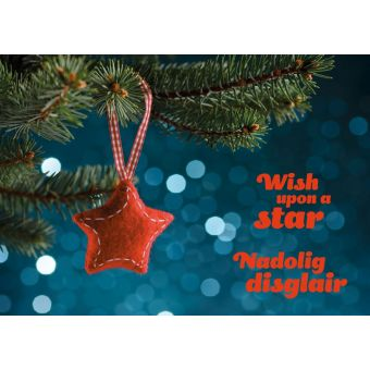 Wish upon a Star Cards Welsh Pack of 10 Charity Christmas Cards