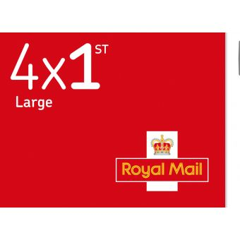 Royal Mail Royal Mail 4 X 1st Class Large Stamp Book