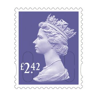 25 x £2.42 Stamp Sheet