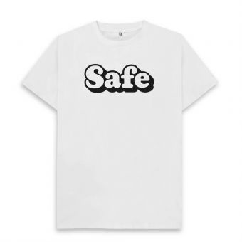 "Action For Children Big ""Safe"" White T-Shirt (M)"