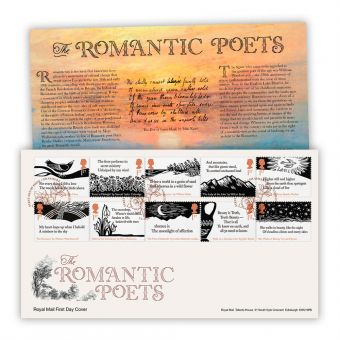 The Romantic Poets First Day Cover (Grasmere, Ambleside)