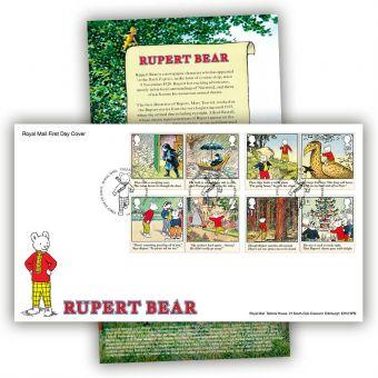 Rupert Bear First Day Cover (Tallents House Postmark)