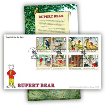 Rupert Bear First Day Cover (Canterbury Postmark)