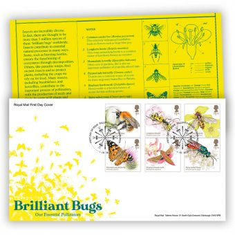Brilliant Bugs First Day Cover with Tallents House Postmark