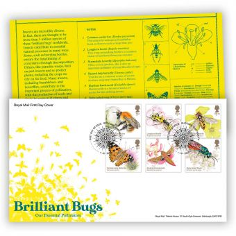 Brilliant Bugs First Day Cover with Bugford, Dartmouth Postmark