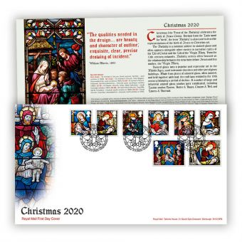 Christmas 2020 First Day Cover with Tallents House Postmark