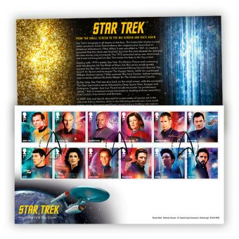 Star Trek First Day Cover with Tallents House Postmark