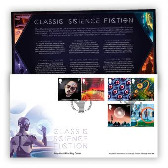 Classic Science Fiction First Day Cover with Tallents House Postmark