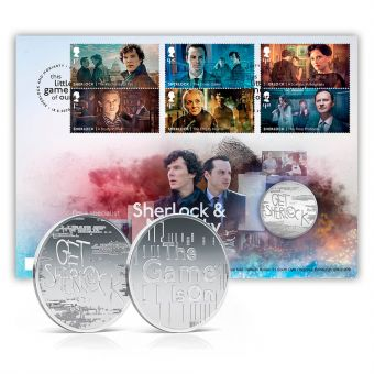 Sherlock and Moriarty Limited Edition Medal Cover