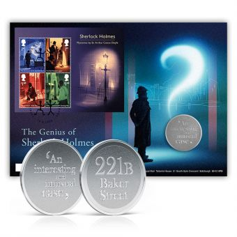The Genius of Sherlock Holmes Limited Edition Medal Cover