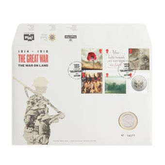 Royal Mail First World War 1916 Coin Cover Brilliant Uncirculated 1