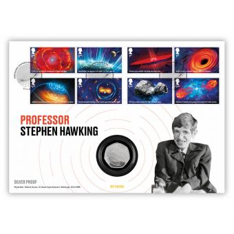 Visions of the Universe Stephen Hawking Silver Coin Cover – Limited Edition