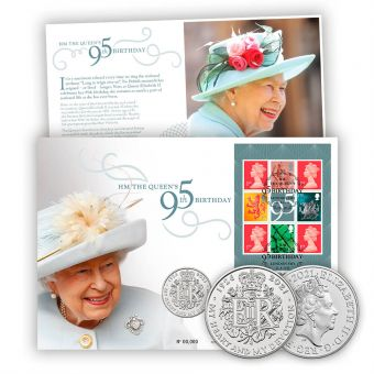 HM The Queen's 95th Birthday Coin Cover