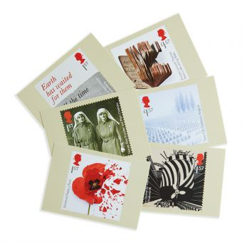 Royal Mail The First World War 1917 Postcards Six In Set