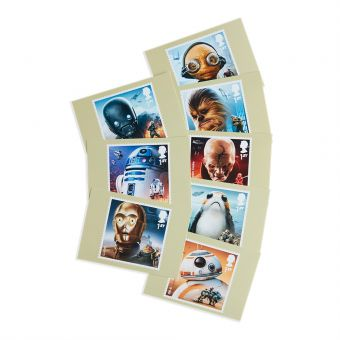 Royal Mail Star Wars Postcards Eight In a Set