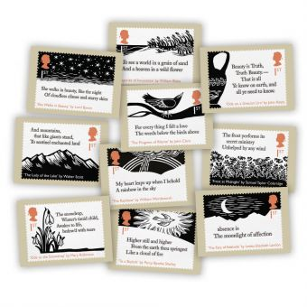 The Romantic Poets Postcards (10 in a set)