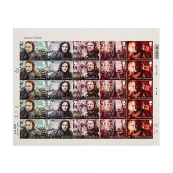 Royal Mail Game of Thrones Half Stamp Sheet 1 1