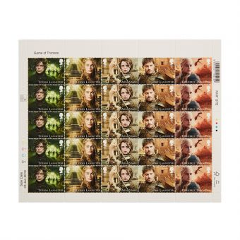 Royal Mail Game of Thrones Half Stamp Sheet 2 1
