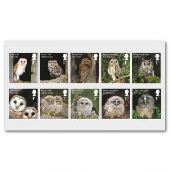 Owls Mint Stamp Set